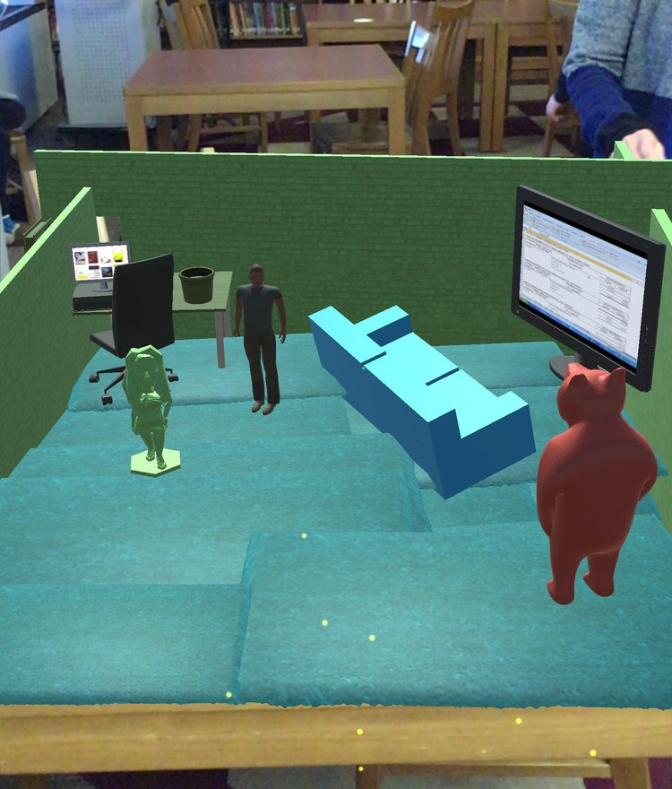 An example of the students 3Ddesign straight out of the app, featuring the 3DBear.