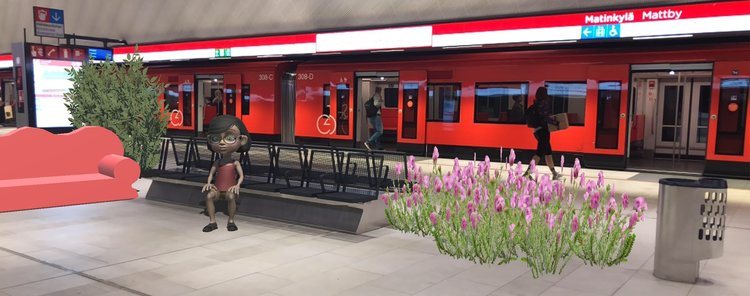 ncreasing the comfort of metro stations in augmented reality