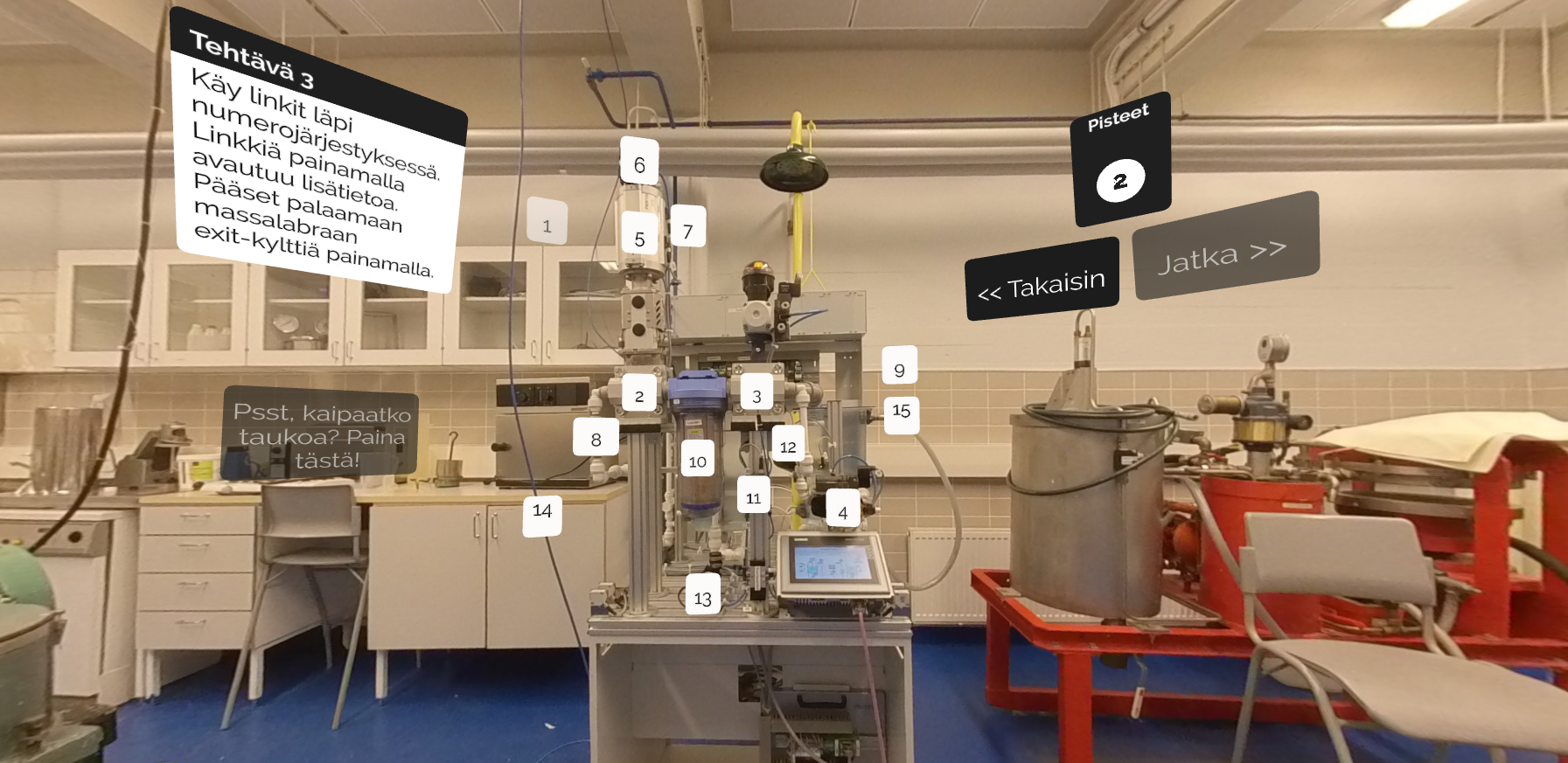 Check out the virtual laboratory at Saimaa's Vocational College Sampo