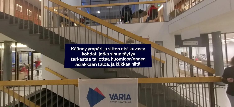 Asiakastyön ja suomen kielen harjoittelua virtuaalisesti Variassa