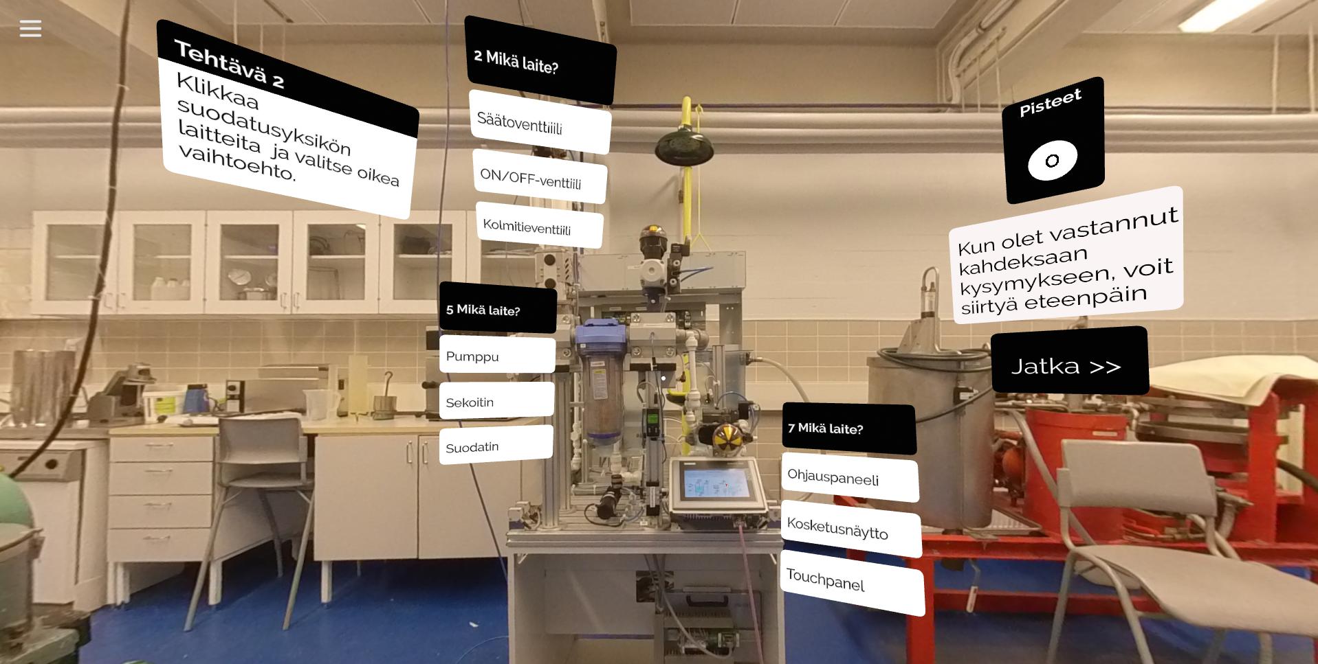 Tutustu virtuaaliseen laboratorioon Saimaan ammattiopisto Sampossa